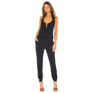 Revolve MONROW Crepe Jumpsuit With Pockets   M
